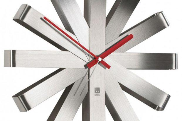 Часы настенные Ribbon сталь