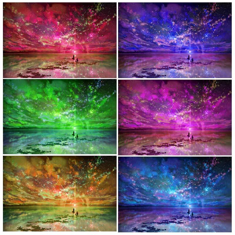 "Алмазная вышивка стразами: ""Краски неба"""