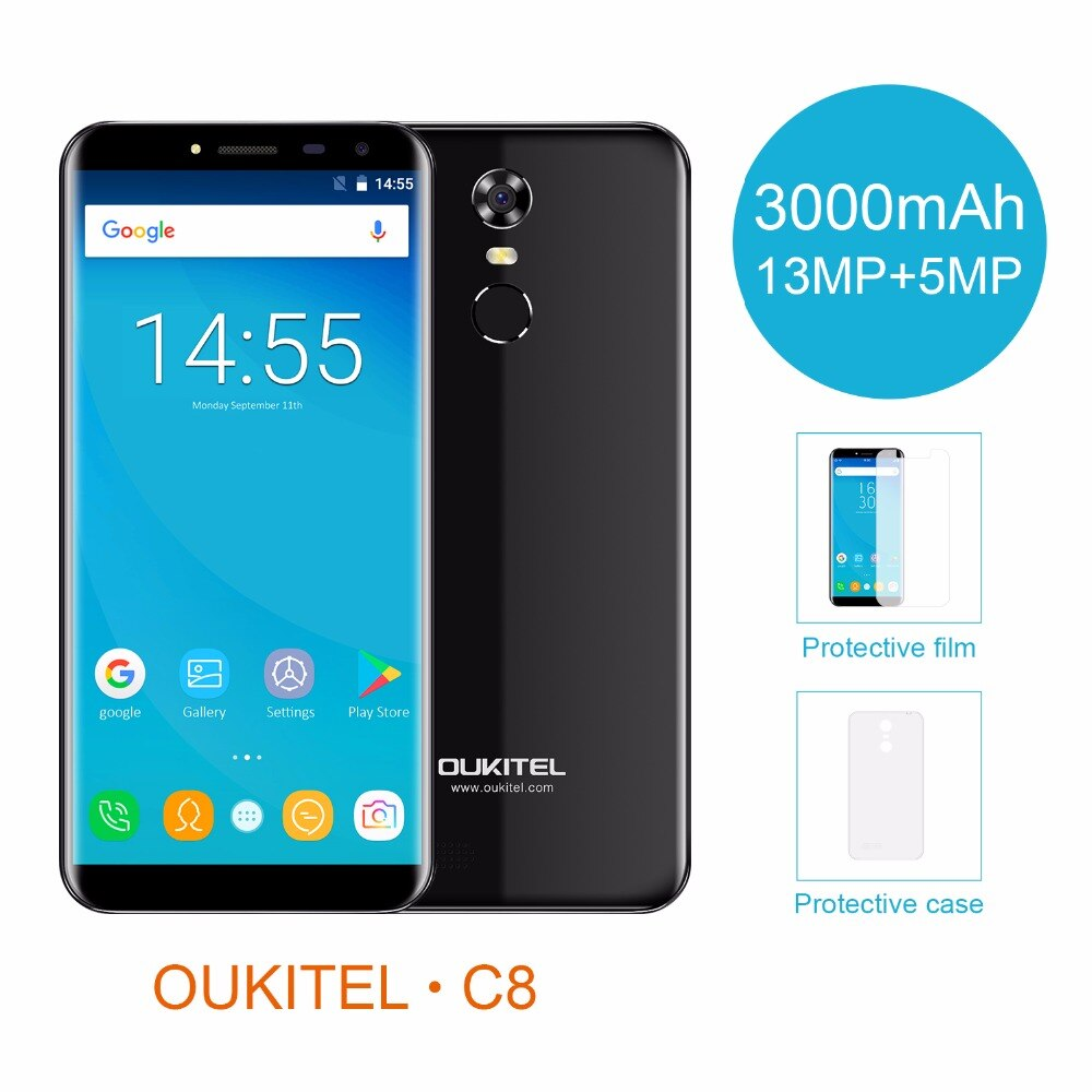 """Oukitel C8 5,5 """"18:9 дисплей Android 7,0 MTK6580A 2G ram"""